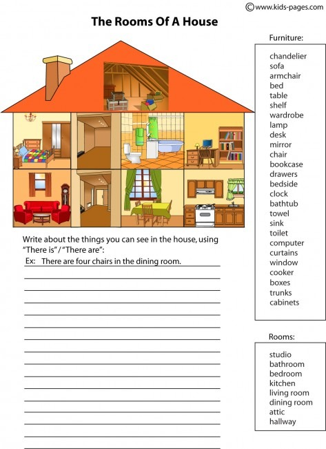 House Parts 2 Worksheet