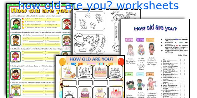 How Old Are You  Worksheets