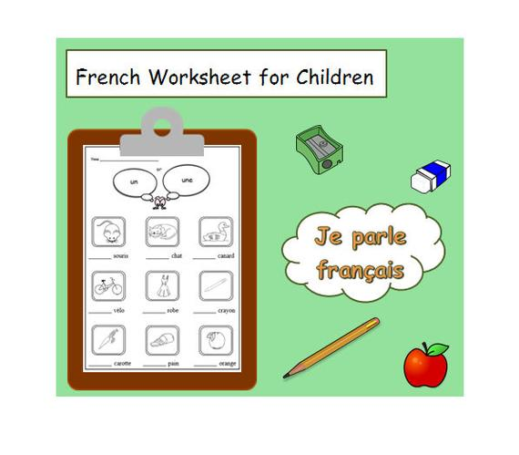 Kids Activity Printable To Practise Gender Of Nouns With