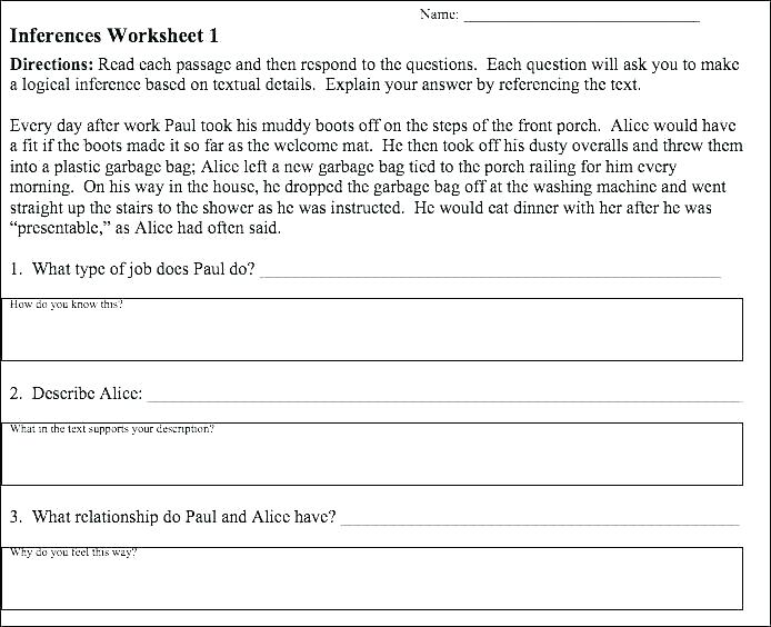 Inference Worksheets For Middle School – Openlayers Co