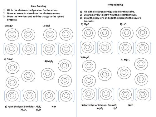 Ionic Bonds Worksheet One Step Equations Worksheet Mole