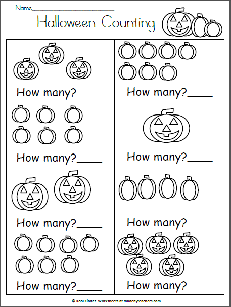 Halloween Math Worksheet