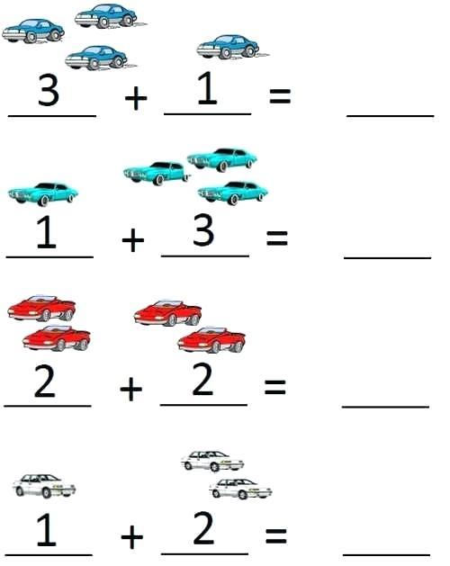 Junior Kindergarten Math Worksheets K Addition Adding Pre Number