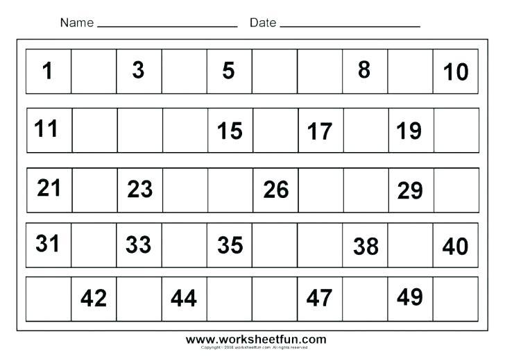 Kindergarten Counting Worksheets 1 20