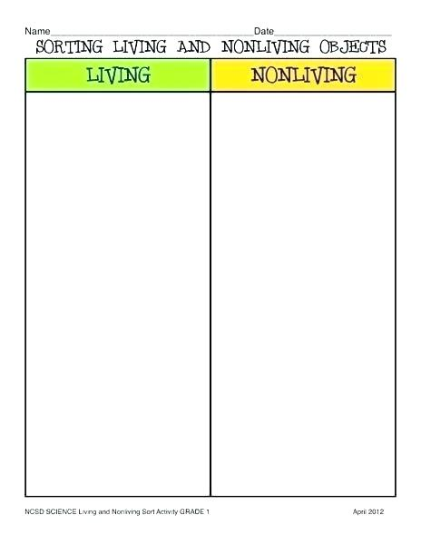 Living And Nonliving Worksheets Characteristics Of Life Worksheet