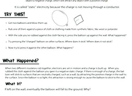 Magnetism Worksheets For Kids Main Ideas Worksheets Electricity