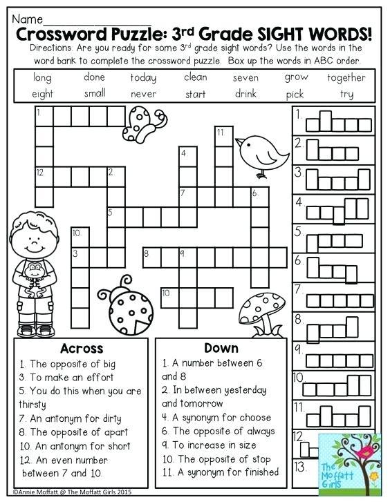 Math Puzzle Worksheets Third Grade