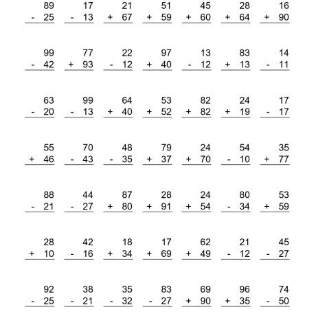 Math Worksheets For Grade 2 Print