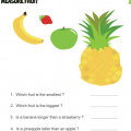 Weighing And Measuring Food Worksheets