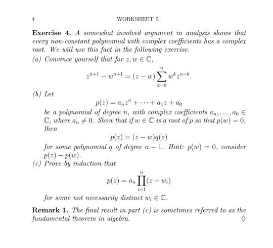 Solved  Worksheet 5 Exercise 4  A Somewhat Involved Argume
