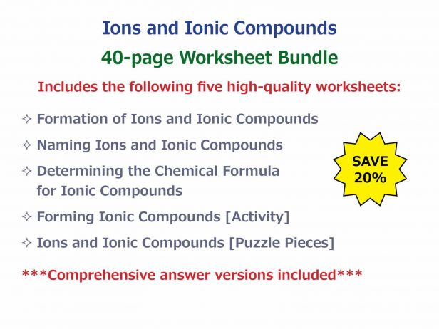 Worksheet  Naming Ionic Compounds Worksheet Answer Key  Quiz