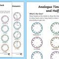 O Clock And Half Past Worksheets