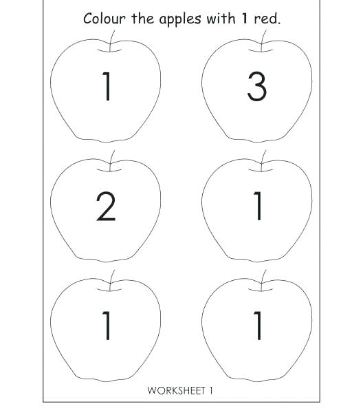 Number Worksheets For 3 Year Olds