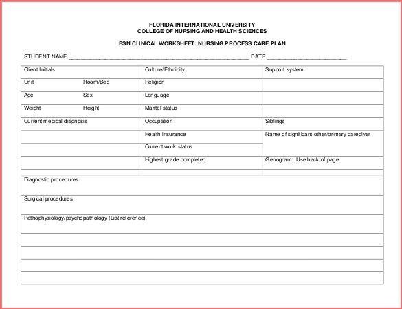 30 Images Of Nursing Diagnosis Worksheet Template