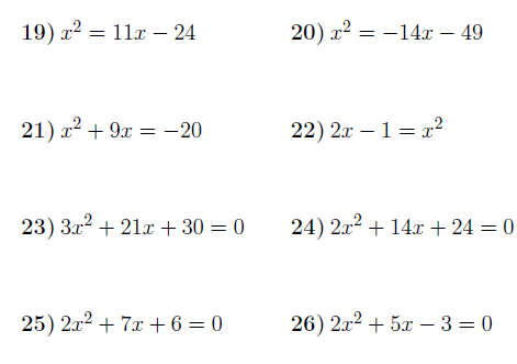 Solving Quadratic Equations By Factorising 2 Worksheet (with