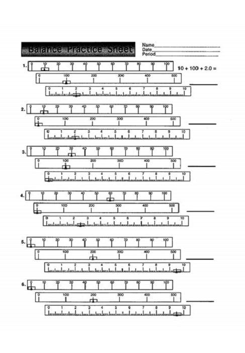 Pan Balance Worksheets Printable