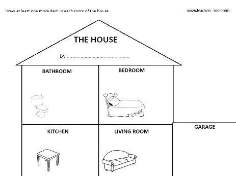 Parts Of The House Worksheets Pdf