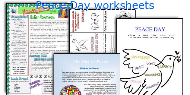 Peace Day Worksheets