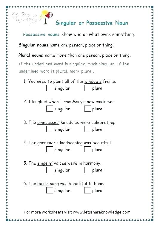Nouns Worksheets For Grade 5 – Openlayers Co