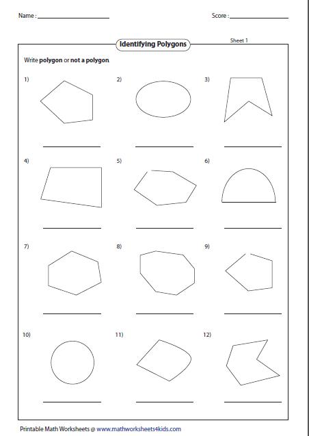 Polygons Worksheet 4th Grade