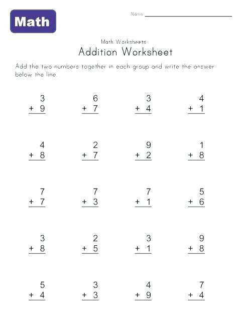 Preschool Addition Worksheets Printable Free Printable Preschool