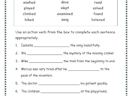 Verbs Worksheets 5th Grade – Morningknits Com