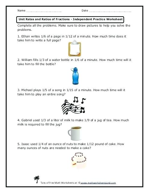 Ratio Rate Math Worksheets Bedrooms First Credit Card