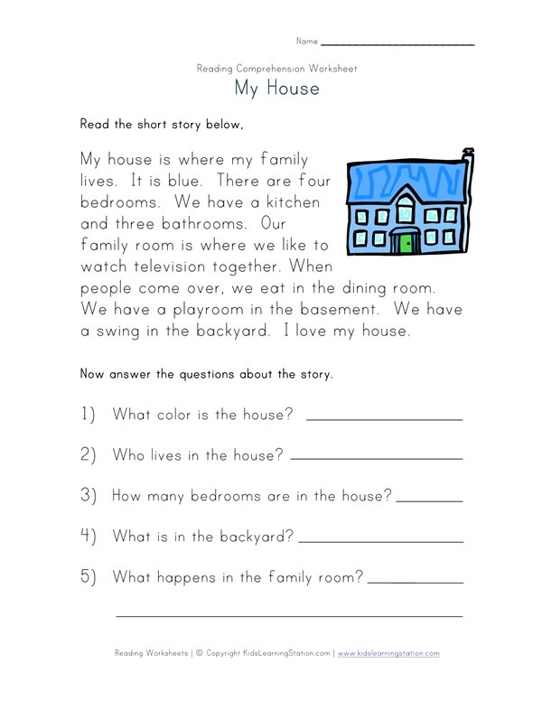 Reading Comprehension Worksheets Reading Comprehension Worksheet