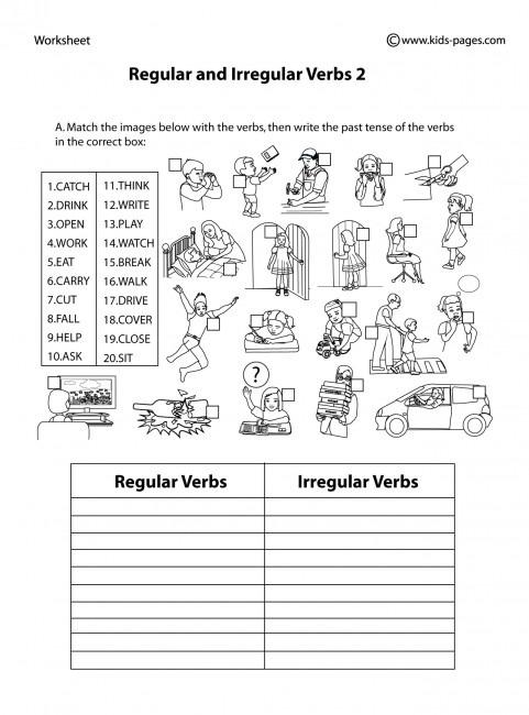 Regular And Irregular Verbs 2 B&w Worksheet