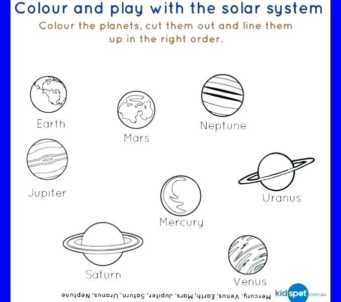 Universe Kindergarten Worksheets Science For All Free Solar System