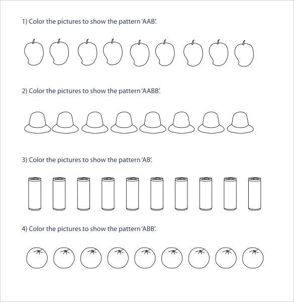 Ab Pattern Worksheets Ab Pattern Worksheets For Kindergarten Best