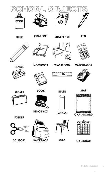 Copy Of School Objects