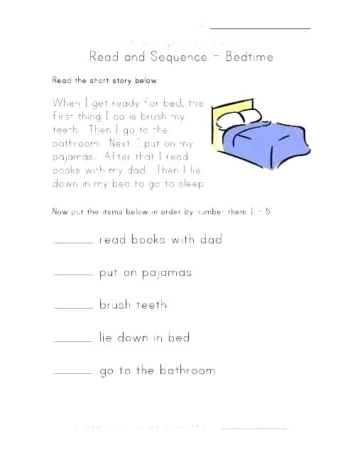 Sequence Of Events Worksheets 1st Grade