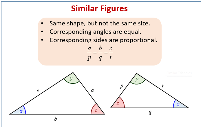 Similar And Congruent Figures (examples, Solutions, Worksheets