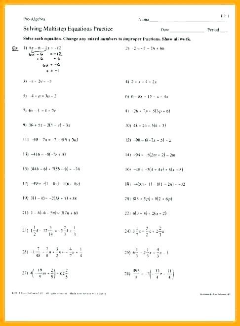 Solving Equations With Fractions Worksheet – Leonestarexpress Com