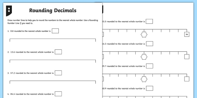 Rounding Decimals Differentiated Worksheet   Worksheets