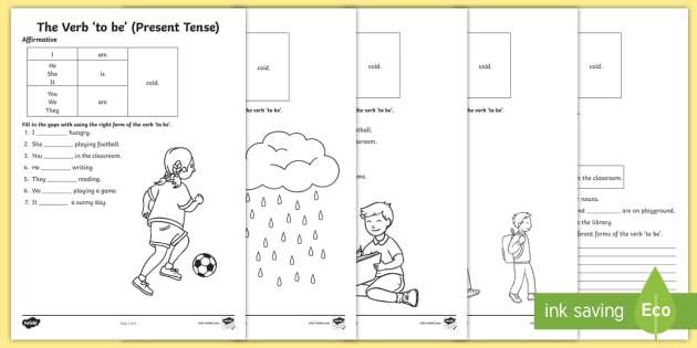 The Verb 'to Be' (present Tense) Worksheet