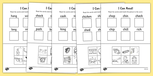 I Can Read Phase 3 Consonant Digraph Words Worksheet   Worksheet