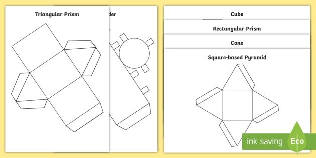 3d Shape Nets Ks1 Worksheet   Worksheets