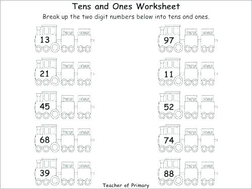 Tens Worksheets Place Value Worksheet Hundreds And Ones For Second