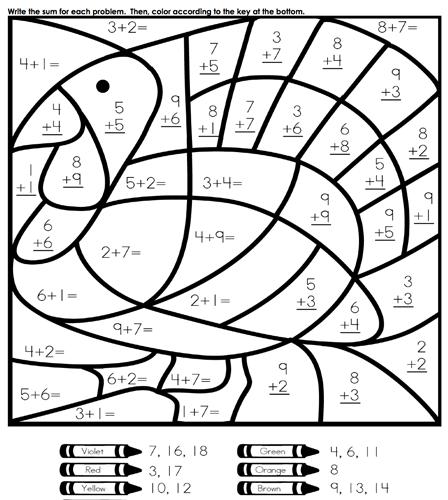Thanksgiving Math Worksheets Grade 3