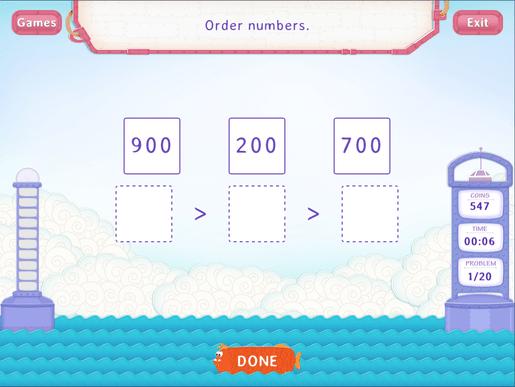 Order Numbers Upto 1000