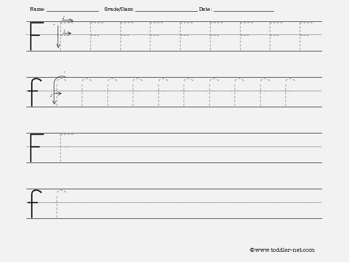 F Handwriting Worksheet – Harddance Info