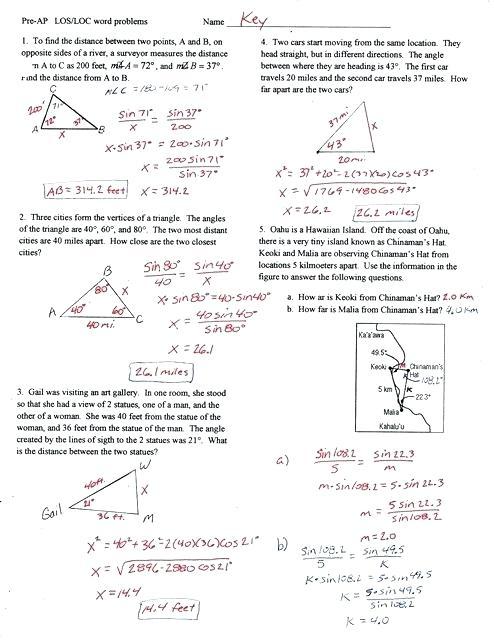 Trig Word Problems Worksheet – Nwpropinspect Com