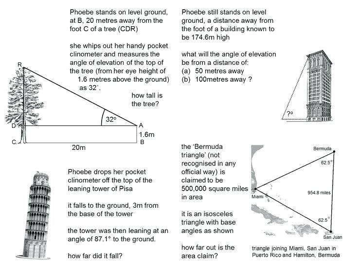 Trigonometry Word Problems Worksheets – Dzulfikar Com