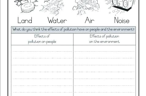 Water Pollution Activity Worksheets Kindergarten Worksheets Ideas