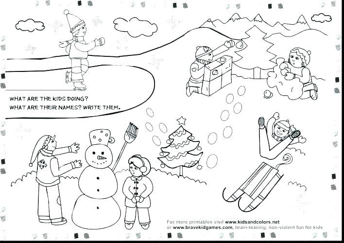 Winter Worksheets For Preschoolers