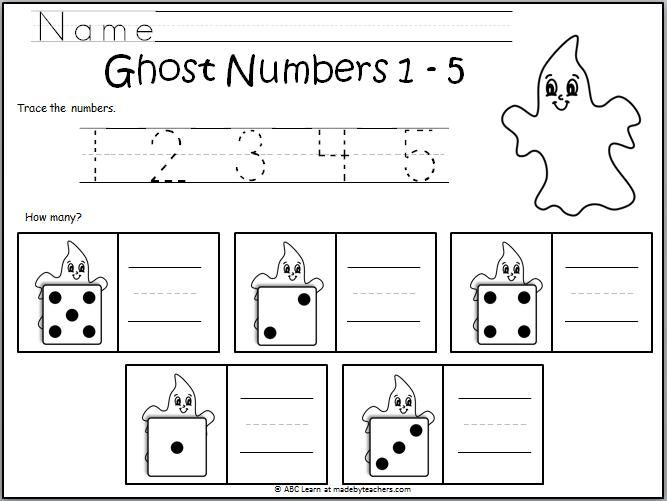 Number Writing Ghosts 1