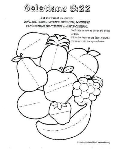 Fruit Of The Spirit Worksheet