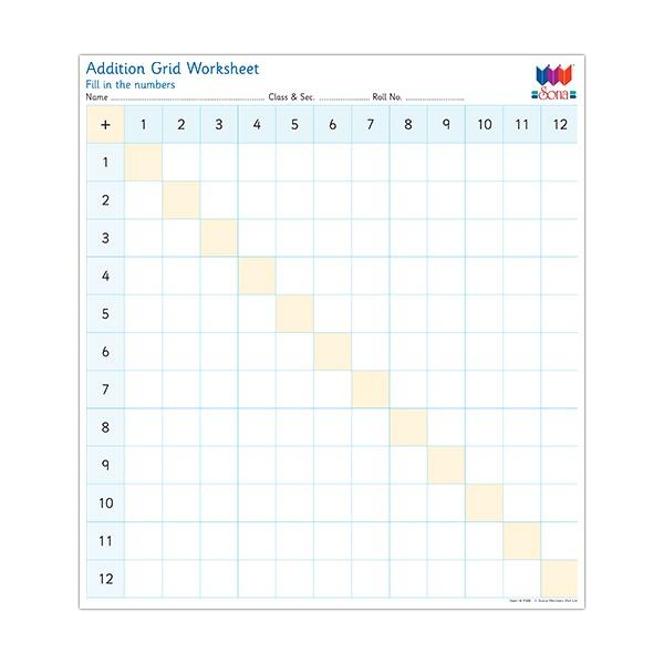 Addition Grid Worksheet